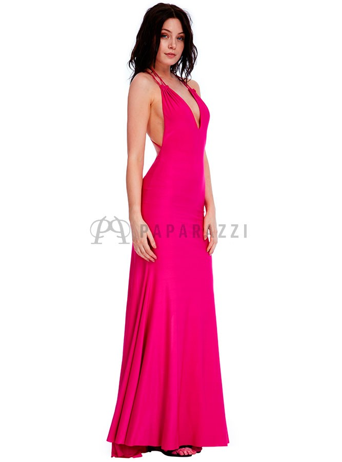 Vestido escotado con espalda descubierta y cola - Paparazzi Moda