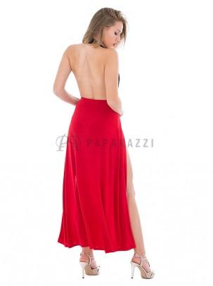 Falda larga con aperturas en ambos lados y braga en interior