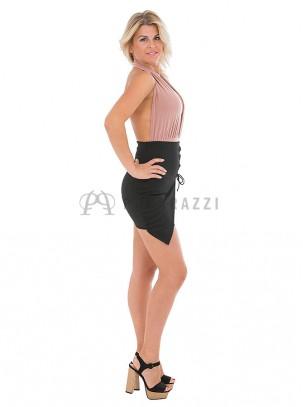 Falda mini cordón entrelazado