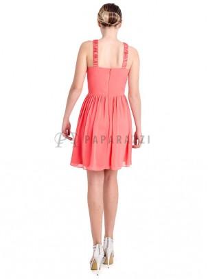 Vestido gasa con pedrería