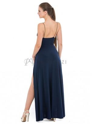 Vestido con aberturas en ambos lados y body en interior