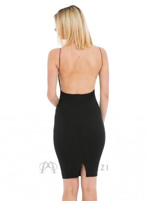Vestido midi de espalda descubierta