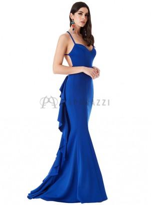 ... Vestido de cola corte sirena con espalda descubierta 8284647e0cd9