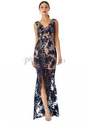 Vestidos largos con encaje de moda