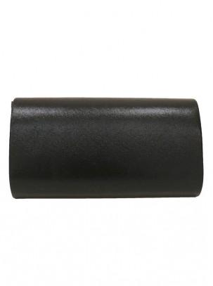 Bolso clutch tipo sobre con solapa, detalle de piedras y cadena opcional