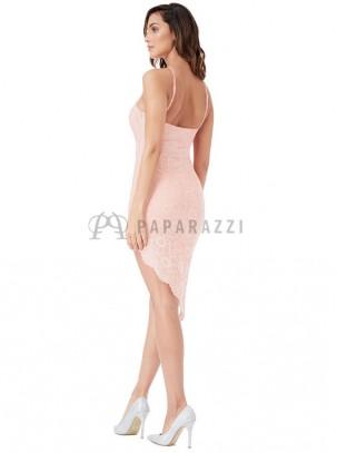 Vestido de encaje asimétrico