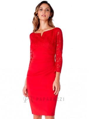 ea0e44517 vestido-midi-de-cuello-barco-con-manga-francesa-de-encaje -escote-en-v-y-drapeado-en-cintura.jpg