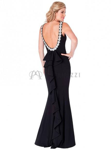 Vestido negro corte sirena