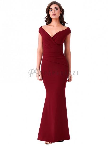 6942f9cb8 Vestido con escote cruzado y pliegues en la cintura - Paparazzi Moda