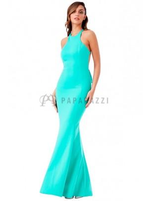 Vestido corte sirena con espalda descubierta