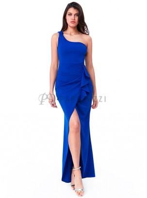 Vestido De Un Tirante Con Detalle De Lazo