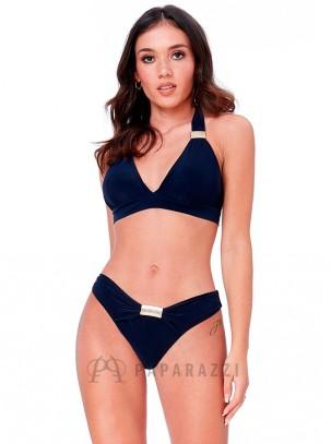 Bikini con detalle metálico en parte superior e inferior