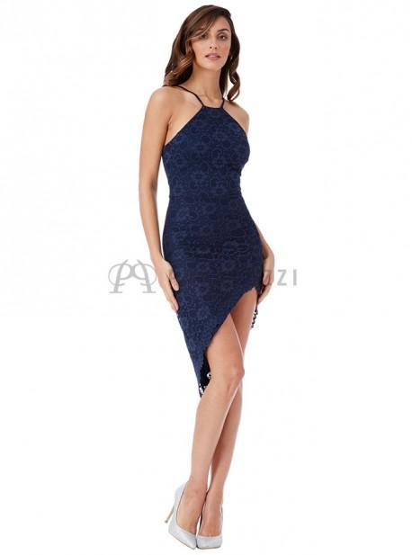 Vestido de encaje asimetrico