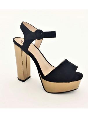 Sandalias con plataforma y corte ancho
